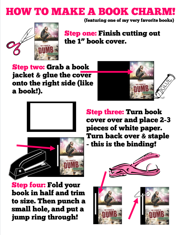 how to make a book charm