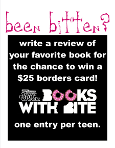 Teen Read Week 2008 Book Review Contest
