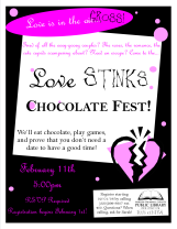 The (very first) Love Stinks Chocolate Fest