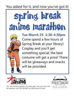 Teen Central Anime Spring Break Marathon