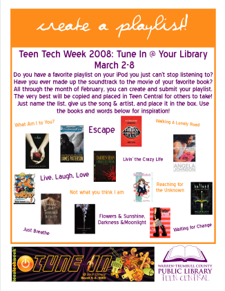 Teen Tech Week 2008 Playlist Maker