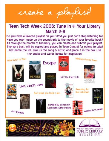 Teen Tech Week 2008 Playlist Maker
