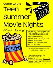 Teen Summer Movie Night