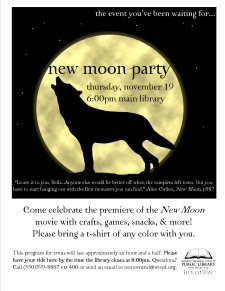 New Moon Movie Premiere Party