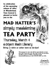 Mad Hatter's Simply Maddening Tea Party in celebration of Tim Burton's Alice in Wonderland