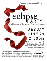 Eclipse Movie Premiere Party