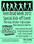 Teen Read Week 2012 Kick-off
