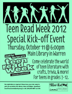 Teen Read Week 2012 Kick-off