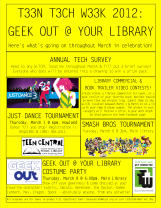Teen Tech Week 2012: Geek Out @ your library