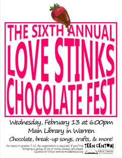 6th Annual Love Stinks Chocolate Fest