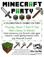 Teen Tech Week Minecraft Party