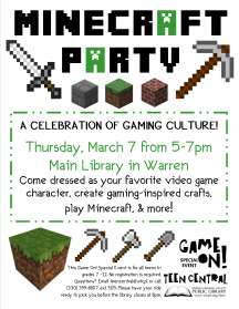 Teen Tech Week Minecraft Party