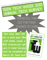 Annual Tech Survey 2013 sign