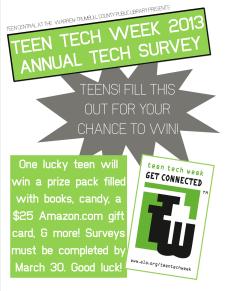 Annual Tech Survey 2013 sign