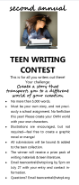 Teen SRP 2013 Writing Contest entry form