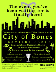 City of Bones Movie Premiere Party
