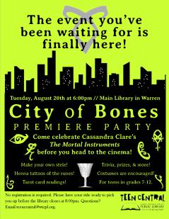 City of Bones Movie Premiere Party