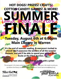 Teen SRP 2013 Summer Finale & Book Auction