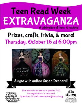2015 Teen Read Week Extravaganza featuring author Susan Dennard