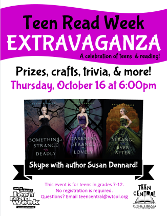 2015 Teen Read Week Extravaganza featuring author Susan Dennard