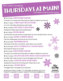 Thursdays at Main: Winter 2014-2015