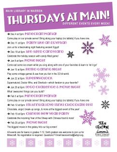 Thursdays at Main: Winter 2014-2015
