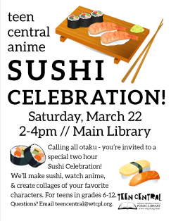 Teen Central Anime Sushi Celebration