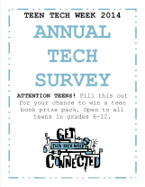 Annual Tech Survey 2014 sign