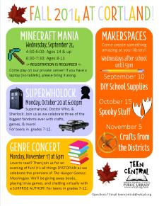 Fall 2014 at Cortland