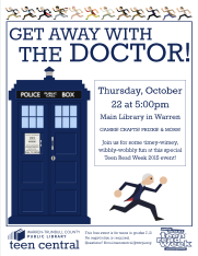 Get Away with the Doctor 2015 Teen Read Week Celebration