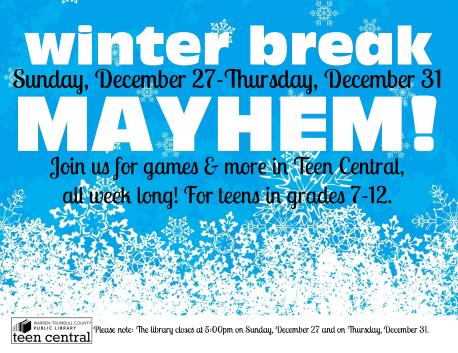 Winter Break Mayhem 2015