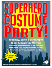 All-ages Superhero Costume Party