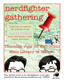 Nerdfighter Gathering to celebrate the premiere of the Paper Towns movie