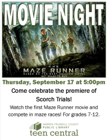 Maze Runner Movie Night to celebrate the premiere of Scorch Trials movie