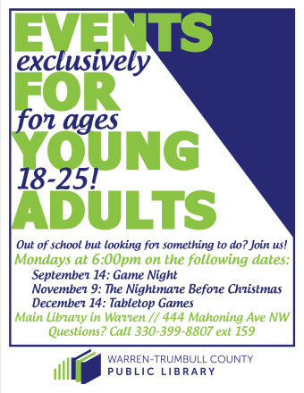 Events for Young Adults (ages 18-25)