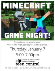 Minecraft Game Night