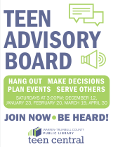 Teen Advisory Board flyers for 2016, based on another's design I found on Tumblr. It's just so perfect!