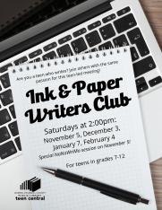 Ink & Paper Writers Club 2016