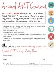 2016 Summer Art Contest