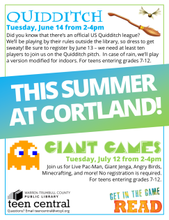 Summer 2016 at Cortland: Quidditch & Giant Games