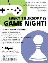Games Nights Summer 2016