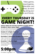 Game Nights Fall 2016