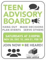 Teen Advisory Board 2016-2017