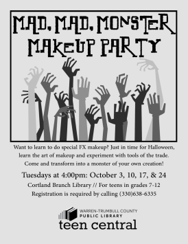 Monster Make-up Party