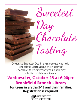 Sweetest Day Chocolate Tasting