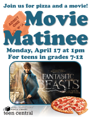 Movie Matinee: Fantastic Beasts & Where to Find Them