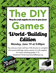 The DIY Games: World-Building Edition