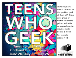 Teens Who Geek