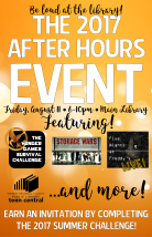 After Hours Event poster