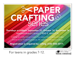 Paper Crafting Series